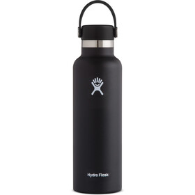 Hydro Flask Standard Mouth Drinkfles met standaard Flex Cap 621ml, black